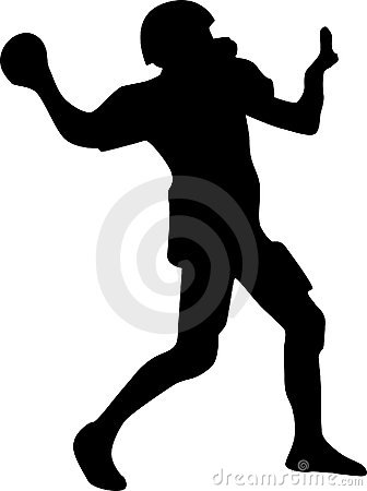 American football player silhouette vector