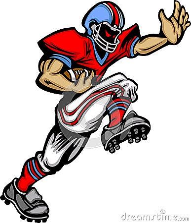 American Football Player Vector Cartoon