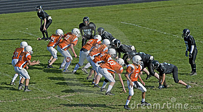 American Football Scrimage Line Editorial Stock Photo