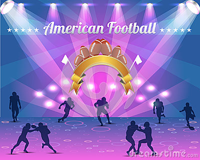 American Football Shield Vector Design