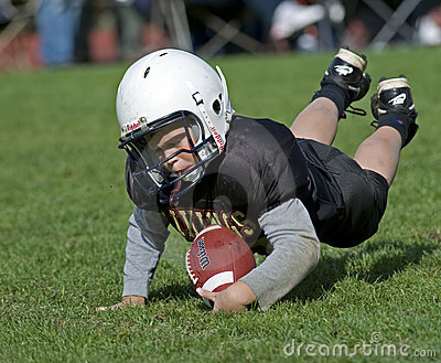 American football youth coverage Editorial Stock Image
