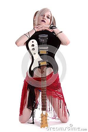 Free American Goth Guitar Stock Image - 244751