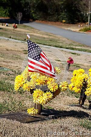 Free American Gravesite Royalty Free Stock Photo - 29789425