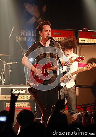 American guitarist Neil Zaza Editorial Stock Image