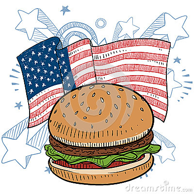 American hamburger vector