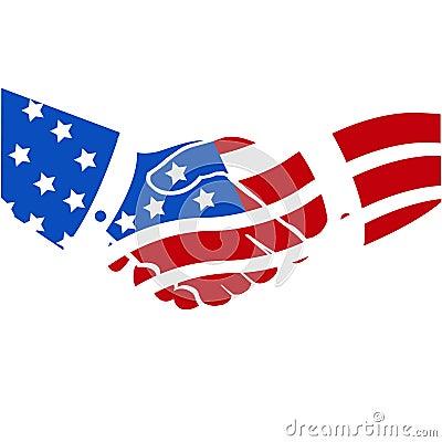 American handshake USA