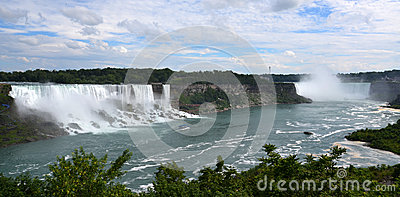 American and Horseshoe Falls, from Niagara Falls, Ontario Editorial Photography