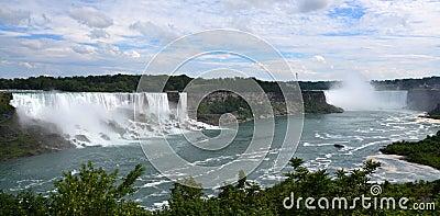 American and Horseshoe Falls, from Niagara Falls, Ontario Editorial Photography