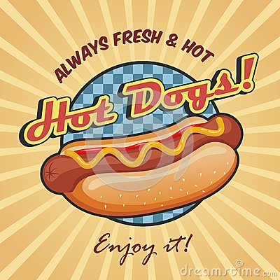 Free American Hot Dog Poster Template Stock Photo - 39491660