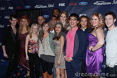 American Idol Season 11 Top 13 Finalists at the American Idol Season 11 Finalists Party, The Grove, Los Angeles, CA 03-01-12 Editorial Photography