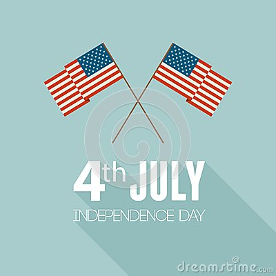 American Independence Day. Flat design