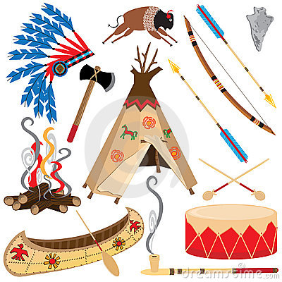 Free American Indian Clipart Icons Royalty Free Stock Image - 17962486