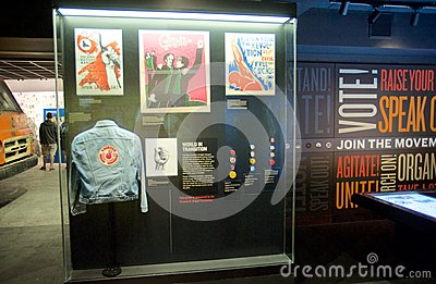 American Indian Movement Exhibit inside the National Civil Rights Museum at the Lorraine Motel Editorial Stock Photo