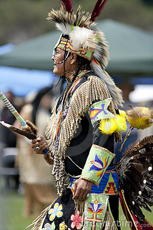 American Indian at UCLA Pow Wow Editorial Stock Photo