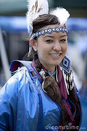 Free American Indian Woman At UCLA Pow Wow Stock Image - 9210551