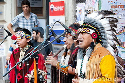 American Indians in Istanbul Editorial Stock Image