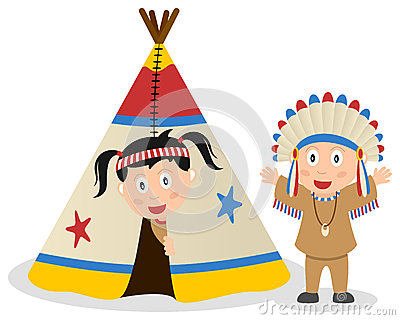 American Indians and Tepee