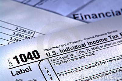 American Internal Revenue Service Tax Form 1040 Editorial Stock Image