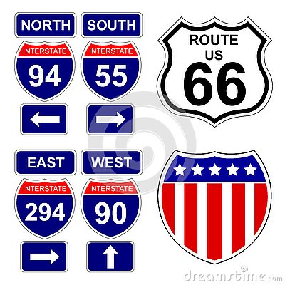 Free American Interstate Signs Stock Photo - 3000610
