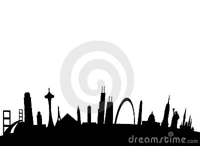 American landmarks background