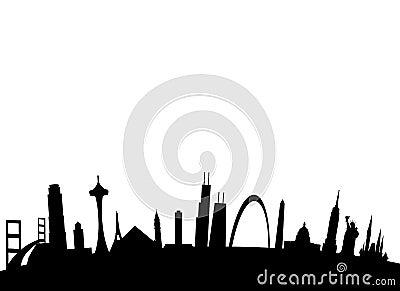 American landmarks background