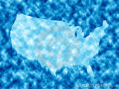 American map in ice
