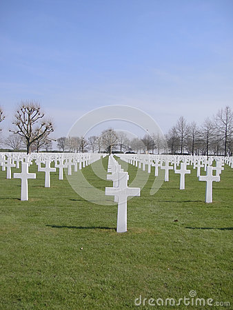 American Military Cemetery Editorial Image
