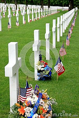 Free American Military Graveyard Royalty Free Stock Photo - 5367275