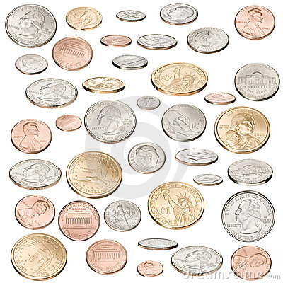 American Money Coins Isolated