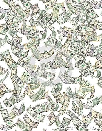 American Money Raining Down Dollars