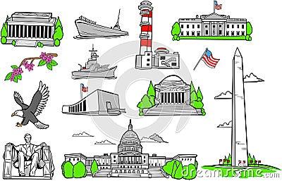 American Monuments Set