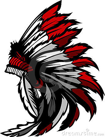 American Native Indian Feather Headress