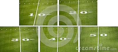American NFL Football Field Number Line Markers