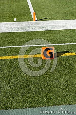 American NFL Football Goal Line Touchdown Marker