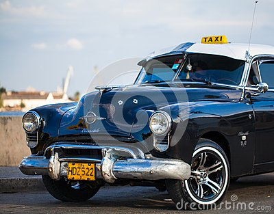 American Oldtimer in Cuba as Taxi Editorial Photo