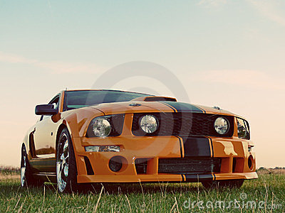 American Orange Muscle Car
