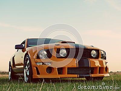American Orange Muscle Car