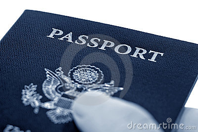 American Passport in International Traveler Hand