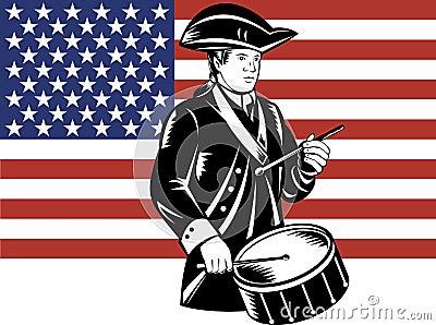 American patriot drummer