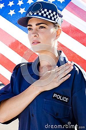 American policewoman