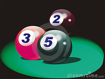 American pool balls