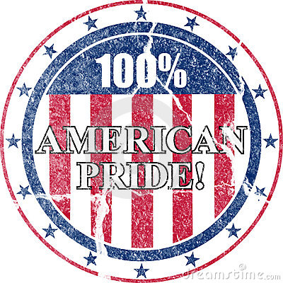 American Pride Distressed Stamp