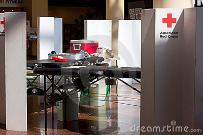American Red Cross Blood Drive Editorial Stock Photo