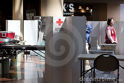 American Red Cross Blood Drive Editorial Photography