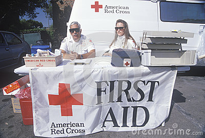 American Red Cross first aid station Editorial Stock Photo