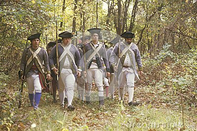 American Revolutionary War Reenactment Editorial Stock Photo