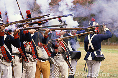 American Revolutionary War Soldiers Editorial Stock Image