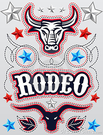 American Rodeo poster - card template - Vector set