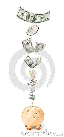 Money Savings Piggy Bank