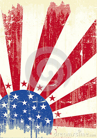 American scratched Flag